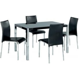 Novello Black Dining Table Set