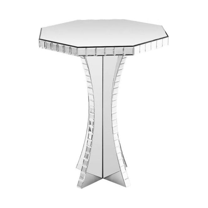 Octagonal Mirrored Side Table