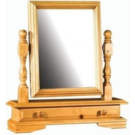 Ogee Dressing Table Mirror with Drawer