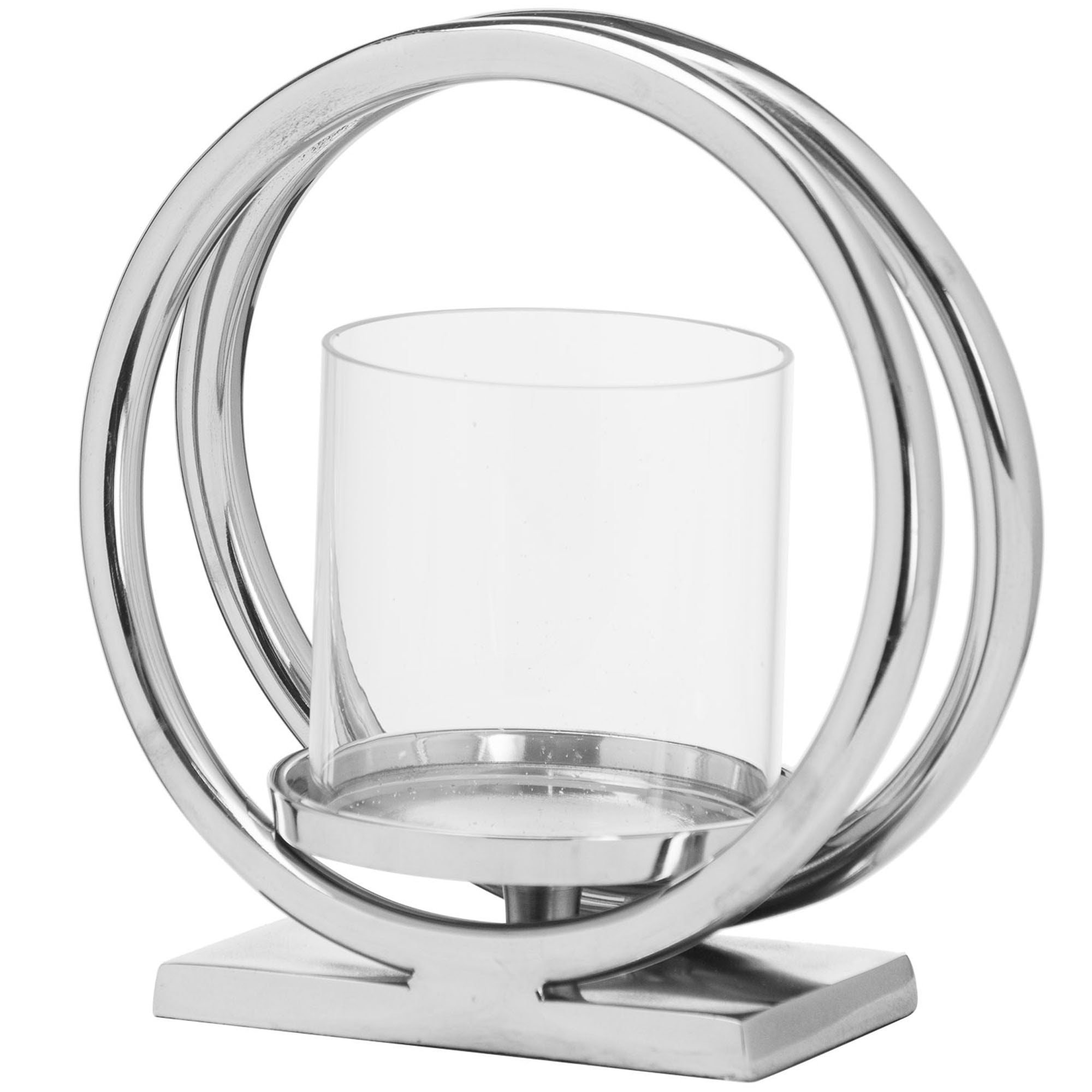Ohlson Silver Candle Holder Home Accessories Candle Holders