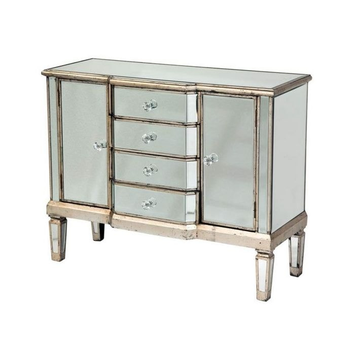 Old Venetian Mirrored Chest Glass Furniture Homesdirect365