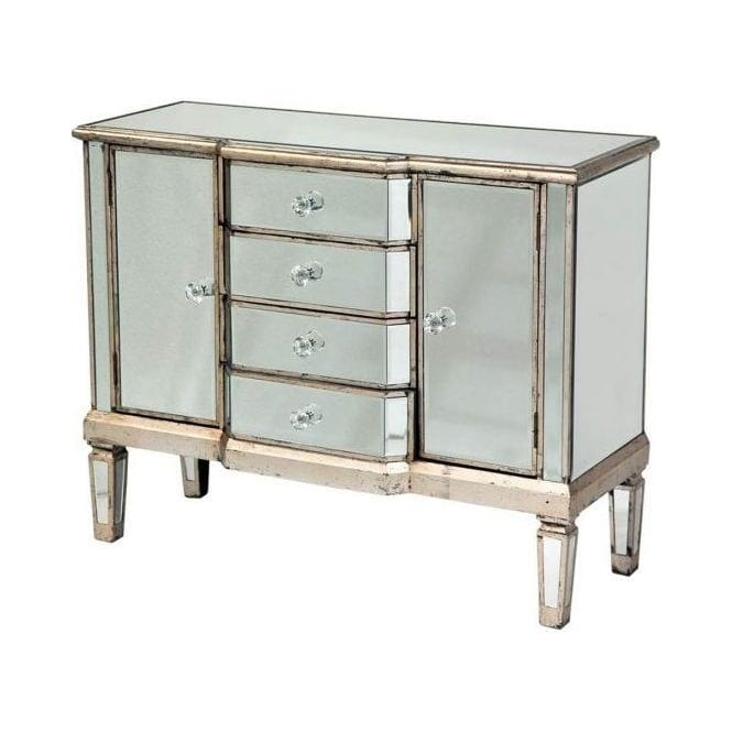 Old Venetian Mirrored Chest
