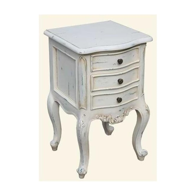 Old White Antique French Style Bedside