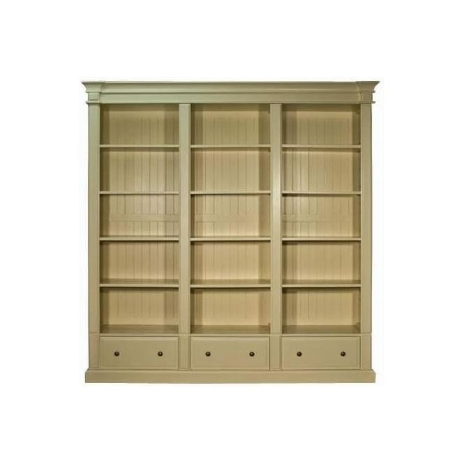 Old White Antique French Style Bookcase