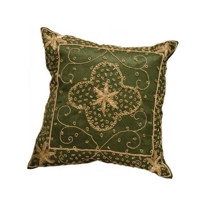 Olive Zardoji Tissue Cushion