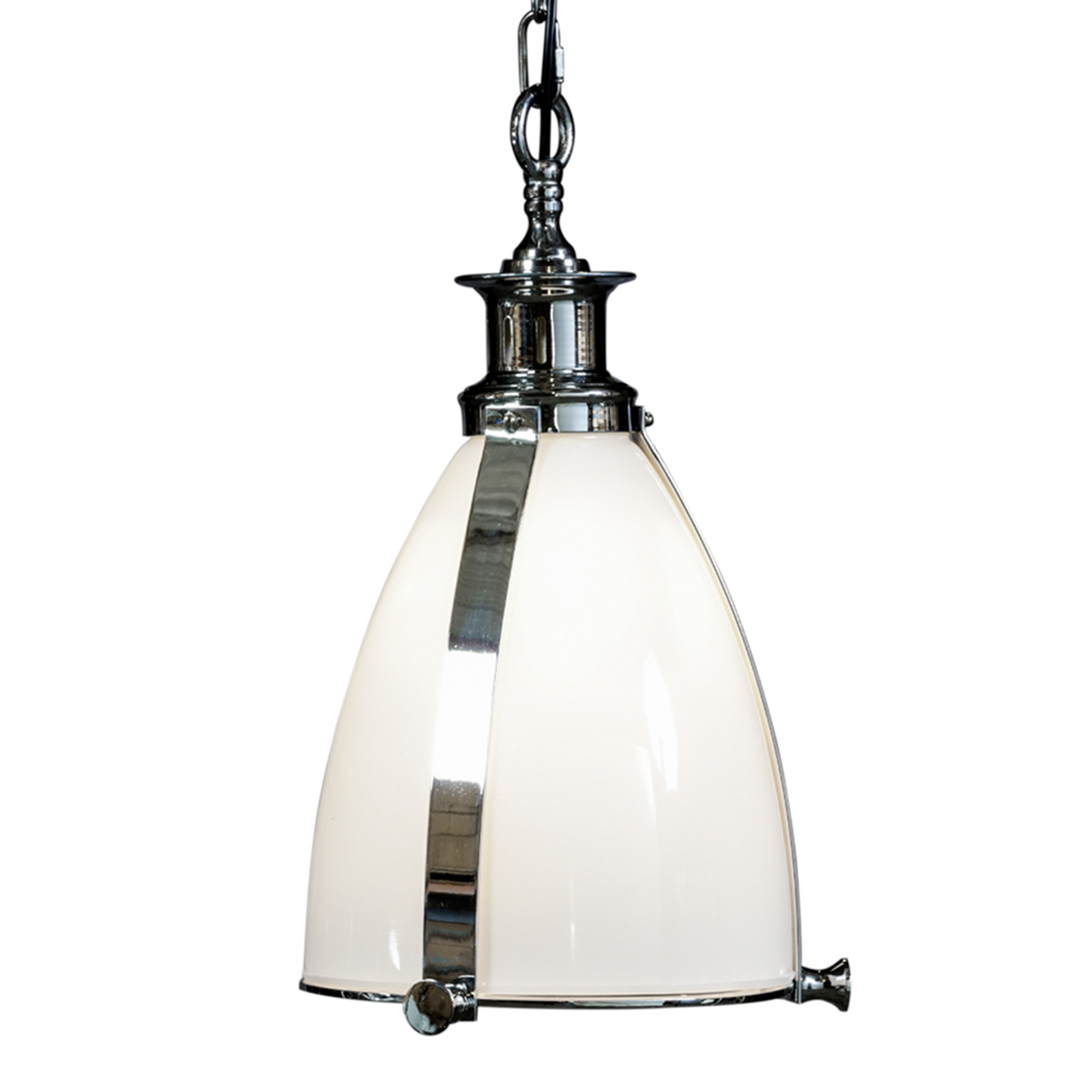 Opaque Chrome Glass Lantern Pendant Light Modern Lighting Online