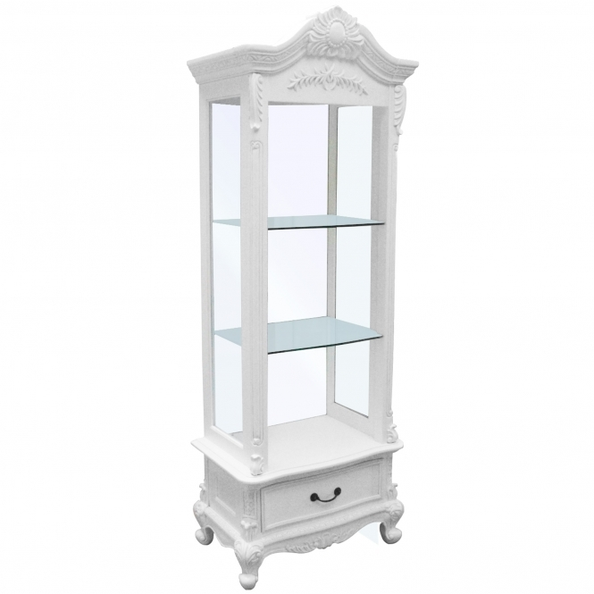 Open Antique French Style Display Cabinet