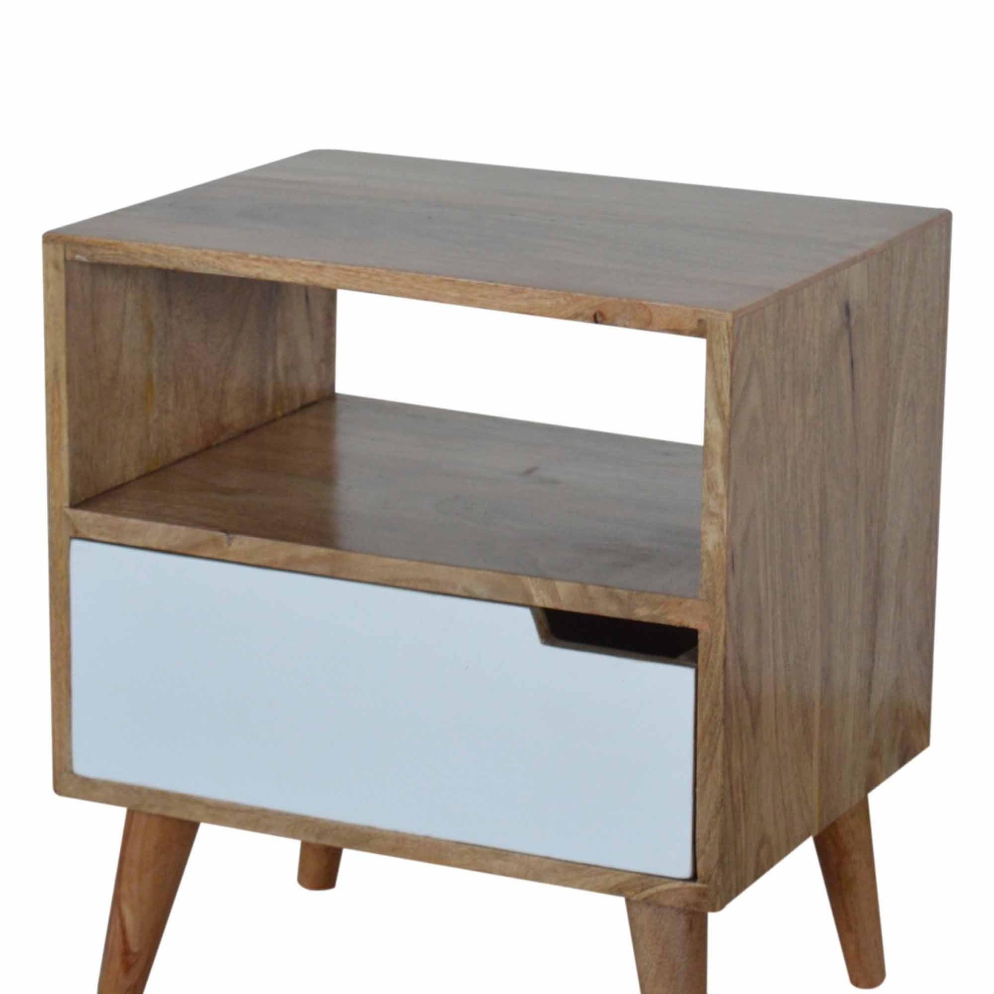 Open Slot White Painted Bedside Modern Furniture Bedsides