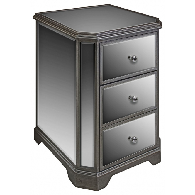 Opera Mirrored Bedside Table