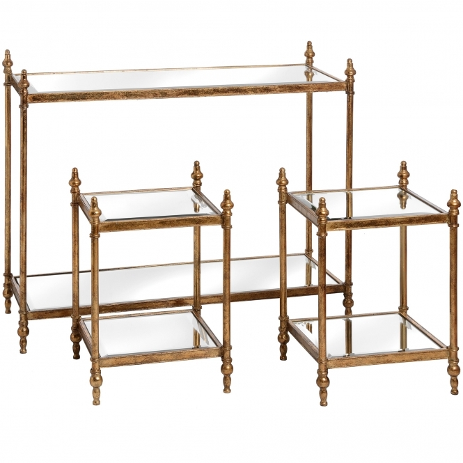 Opulence Console Table with 2 Side Tables