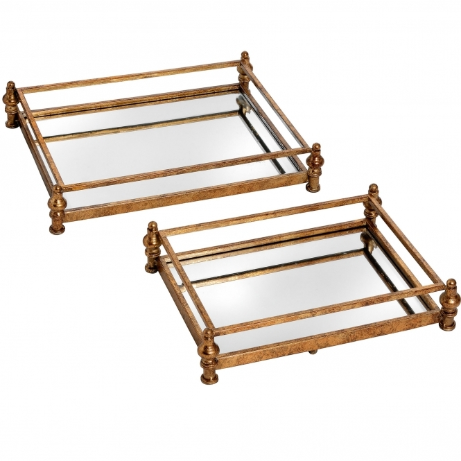 Opulence Set of 2 Cocktail Trays