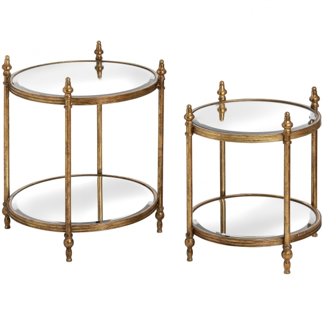 Opulence Set of 2 Round Side Tables