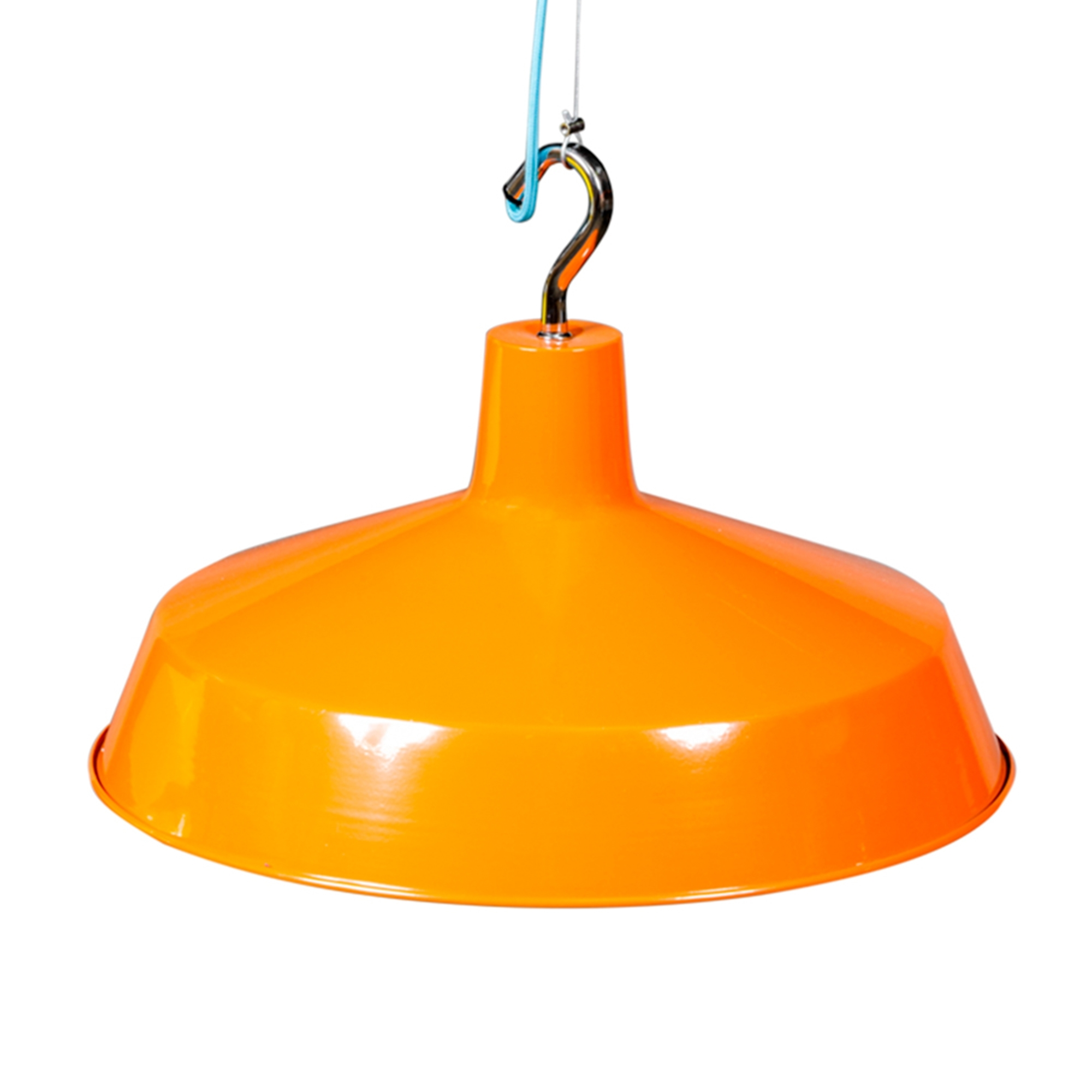 Orange pendant light