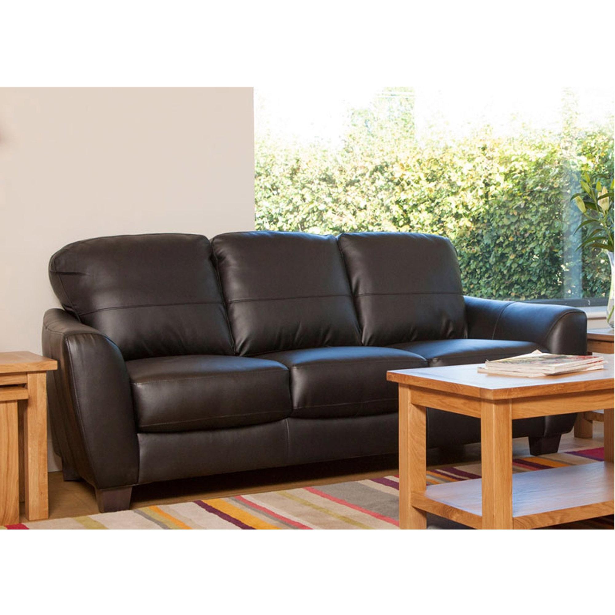 Astounding Oregon Black 3 Seater Sofa Ncnpc Chair Design For Home Ncnpcorg