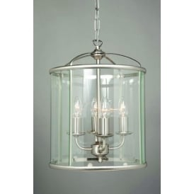 Orly Satin Nickel Round Lantern