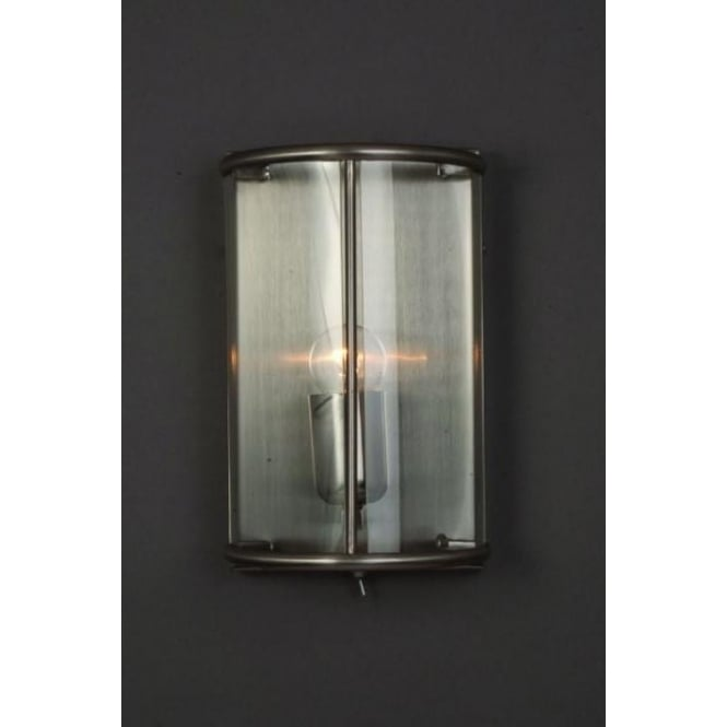 Orly Satin Nickel Wall Light