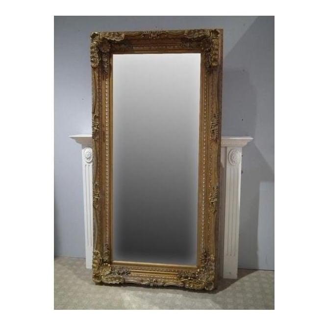 Ornate Framed Antique French Style Floorstanding Mirror