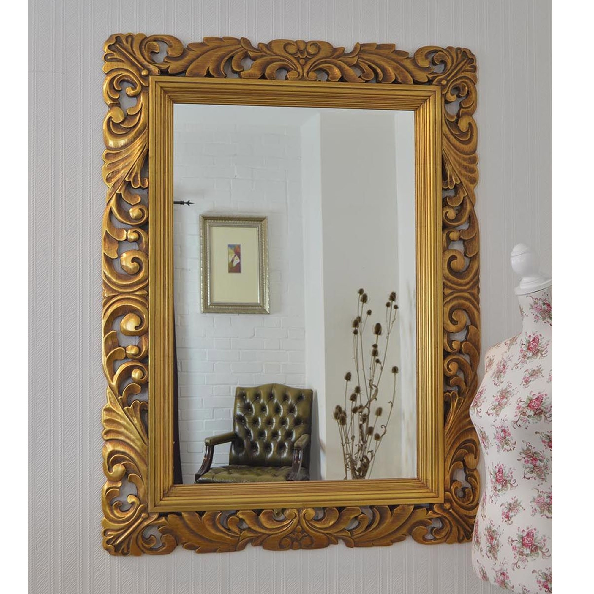 Ornate Framed Gold Antique French Style Wall Mirror French Mirrors From Homesdirect 365 Uk