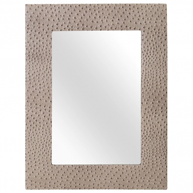 Ostrich Leather Wall Mirror