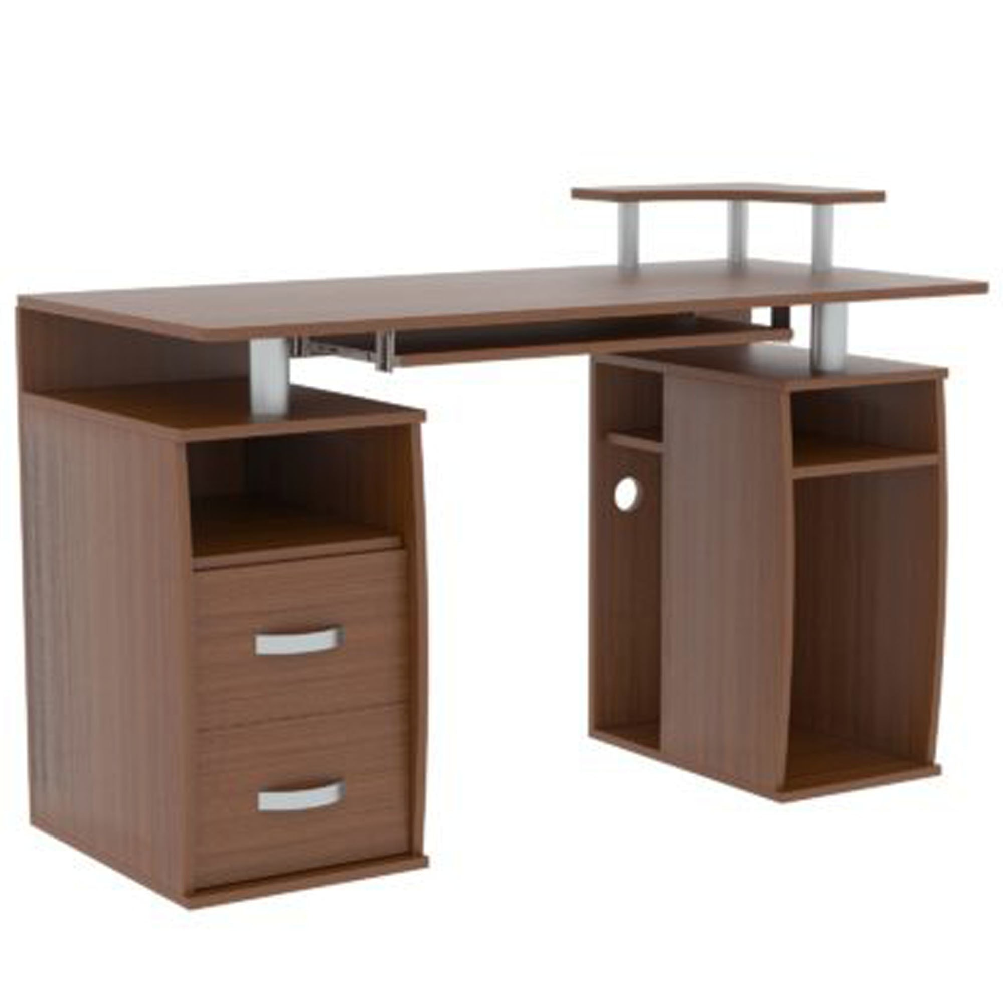 - Otley Walnut 2 Drawer Computer Desk Computer Desks