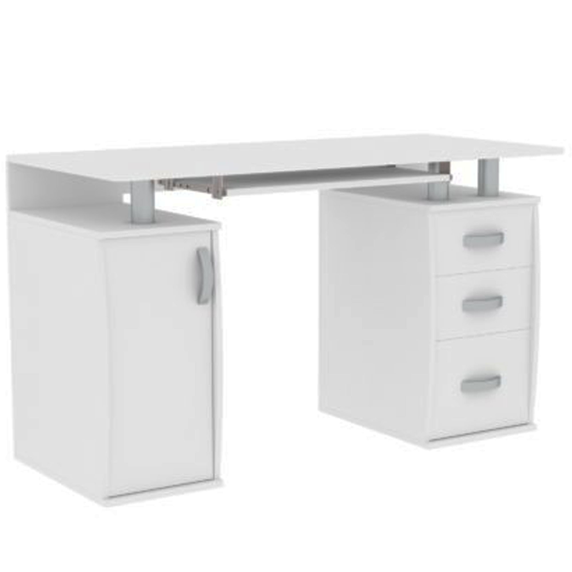 - Otley White 3 Drawer Computer Desk Computer Desks