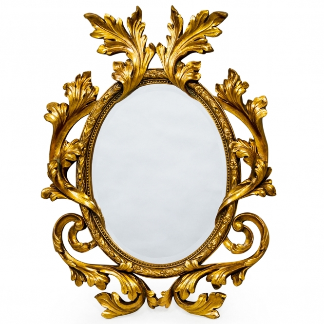 Oval Antique French Style Wall Mirror
