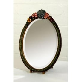 Oval Barbola Table Mirror
