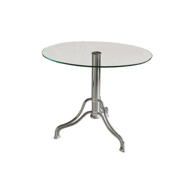 Oval Glass Side Table