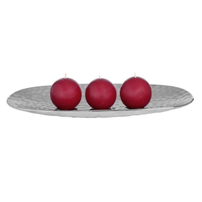 Oval Silver Dimple Display Tray