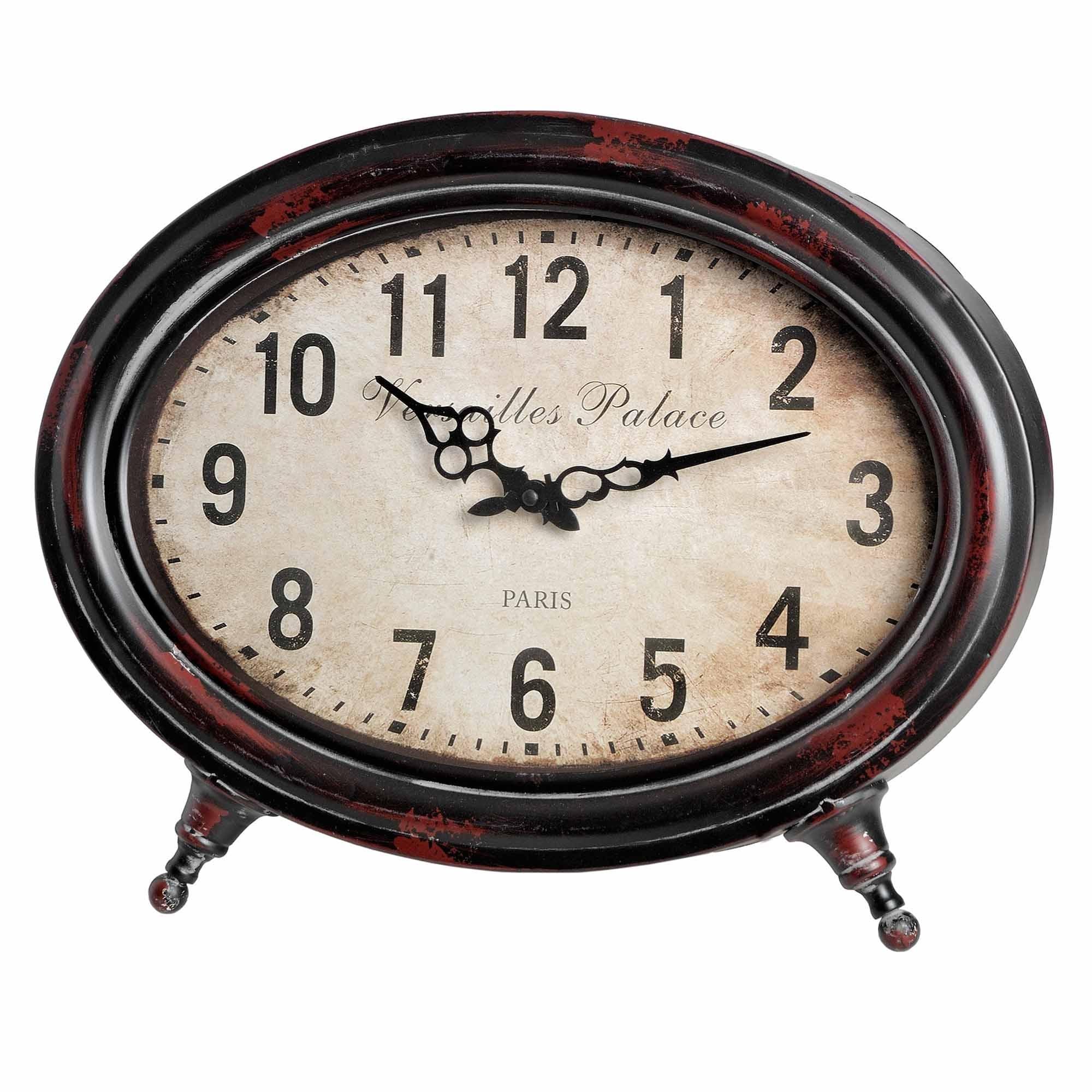 Oval Vintage Table Clock