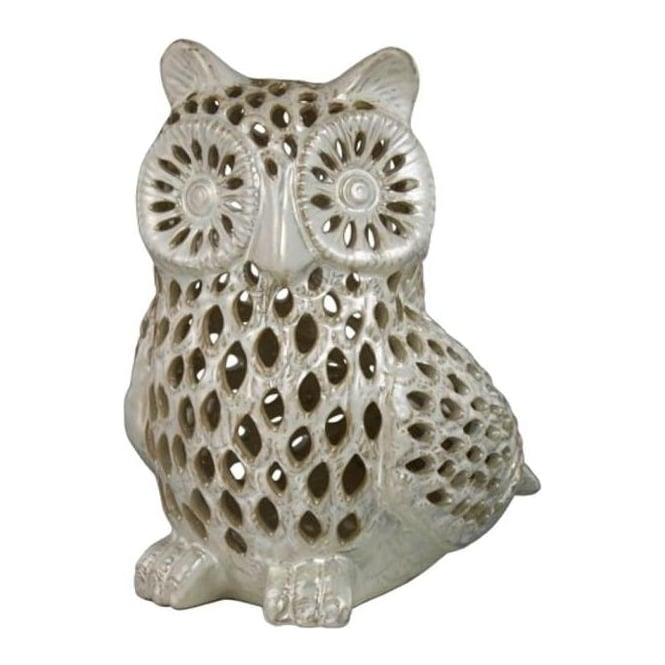 Oyster Pearl Filigree Owl Decoration