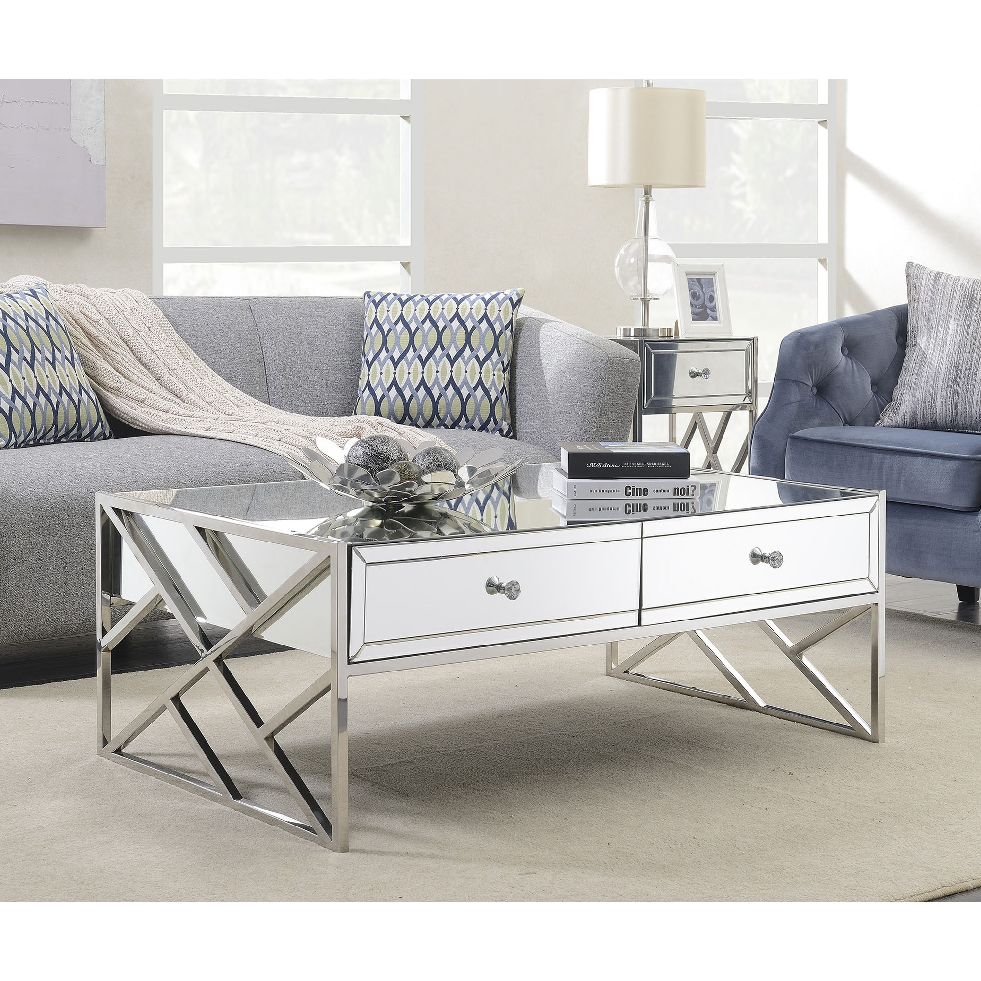 Pacific Mirrored Coffee Table | Coffee Table | HomesDirect365