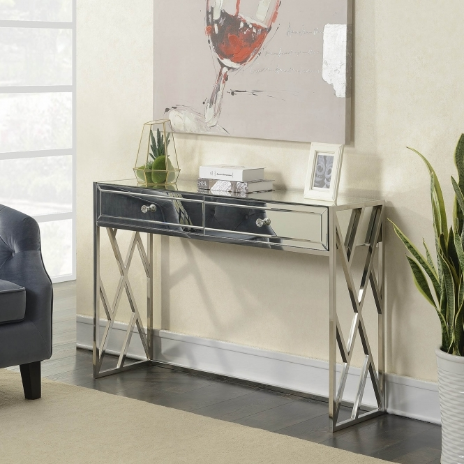 Pacific Mirrored Console Table