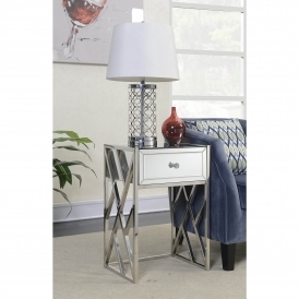 Pacific Mirrored Side Table