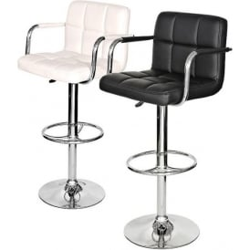 Padded Seat Bar Stool With Arms