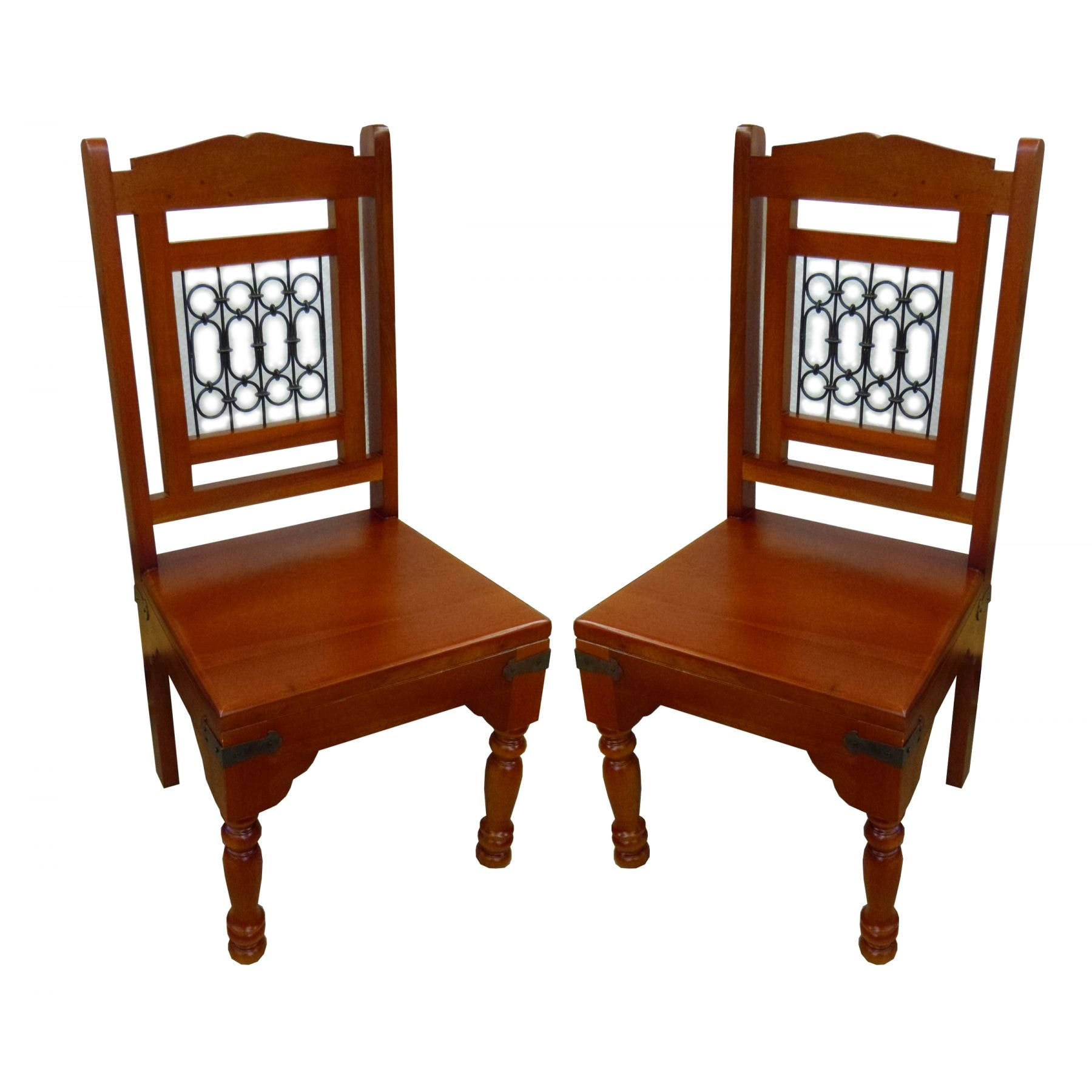 Pair Of Antique French Style Dining Chairs