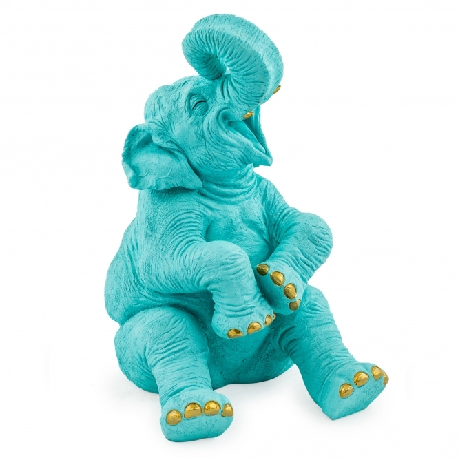 Pale Blue Laughing Elephant