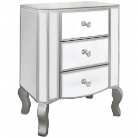 Palermo Mirrored Bedside Table