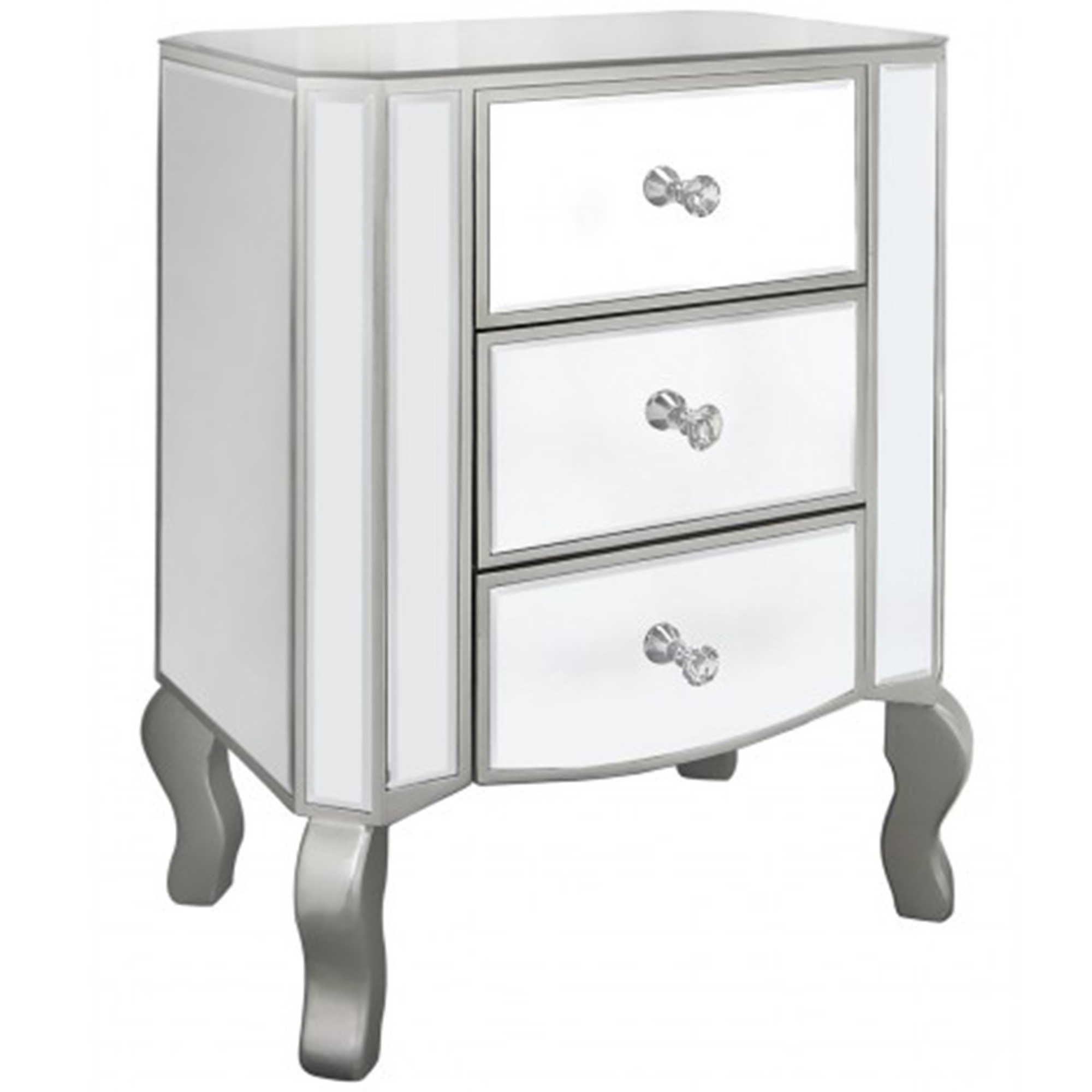 Palermo mirrored bedside table venetian mirrored bedside for Furniture 365 direct