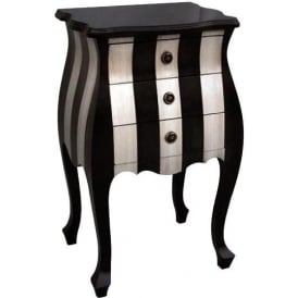 Parallels Tall Antique French Style Bedside Table