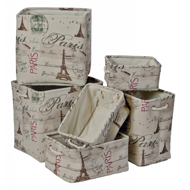 Paris 6 Piece Storage Set