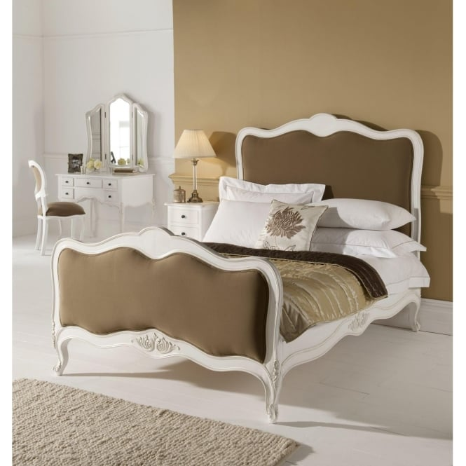 Paris Antique French Bed (Size: Kingsize) + Paris Antique French Bedside + Paris Antique French Dressing Table + Paris Antique French Chest Of Drawers - Bundle Deal
