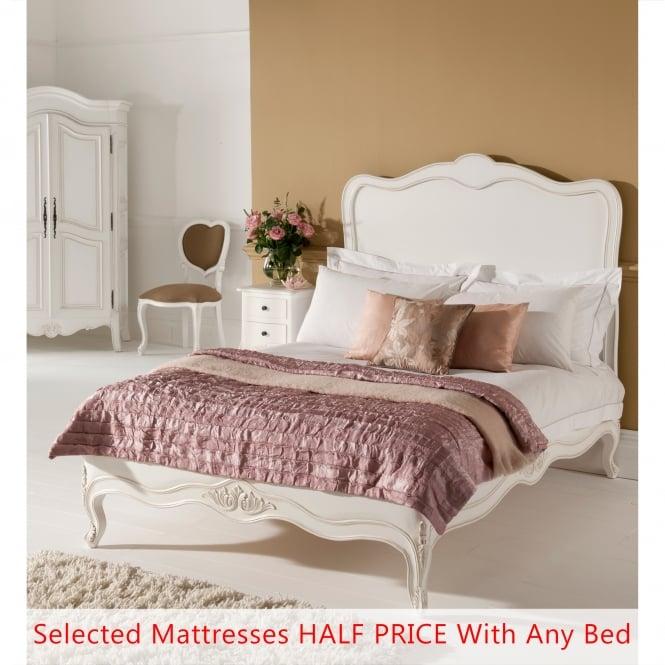 Paris Antique French Bed (Size: Single) + Mattress - Bundle Deal