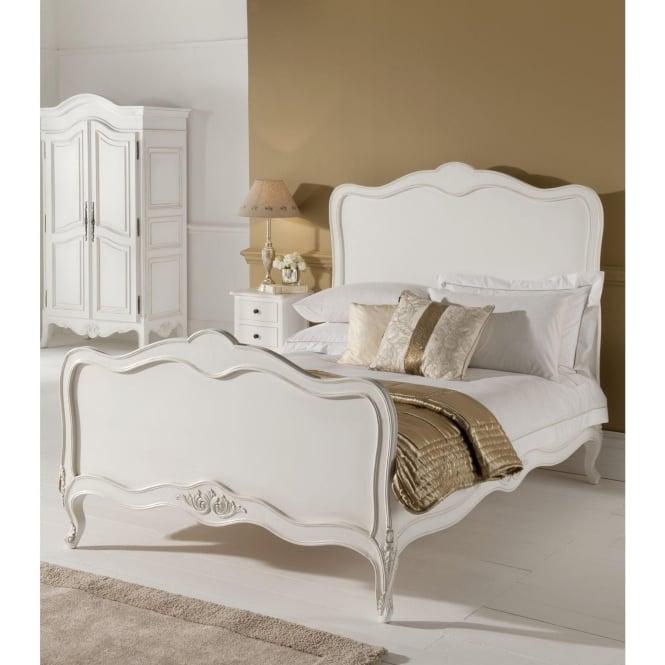 Paris Antique French Bed (Size: Single) + Paris Antique French Bedside + Paris Antique French Chest Of Drawers + Paris Antique French Dressing Table - Bundle Deal