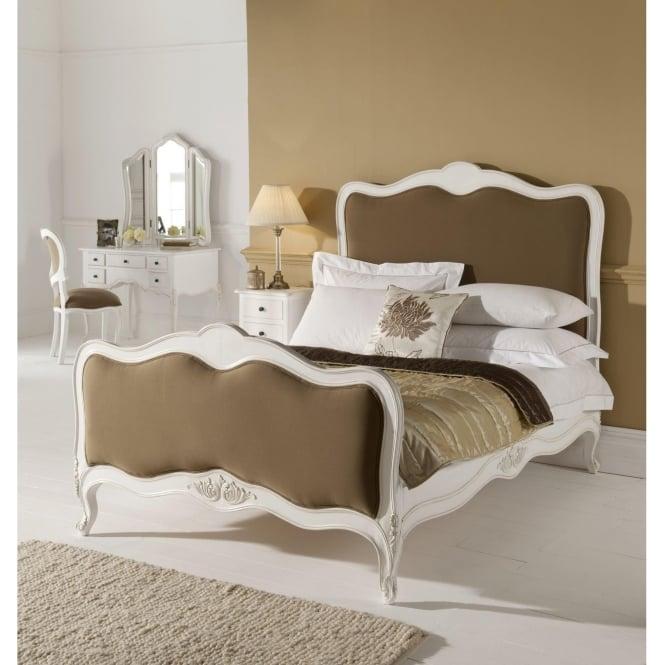 Paris Antique French Bed (Size: Super King) + Paris Antique French Bedside + Paris Antique French Chest Of Drawers + Paris Antique French Dressing Table  - Bundle Deal