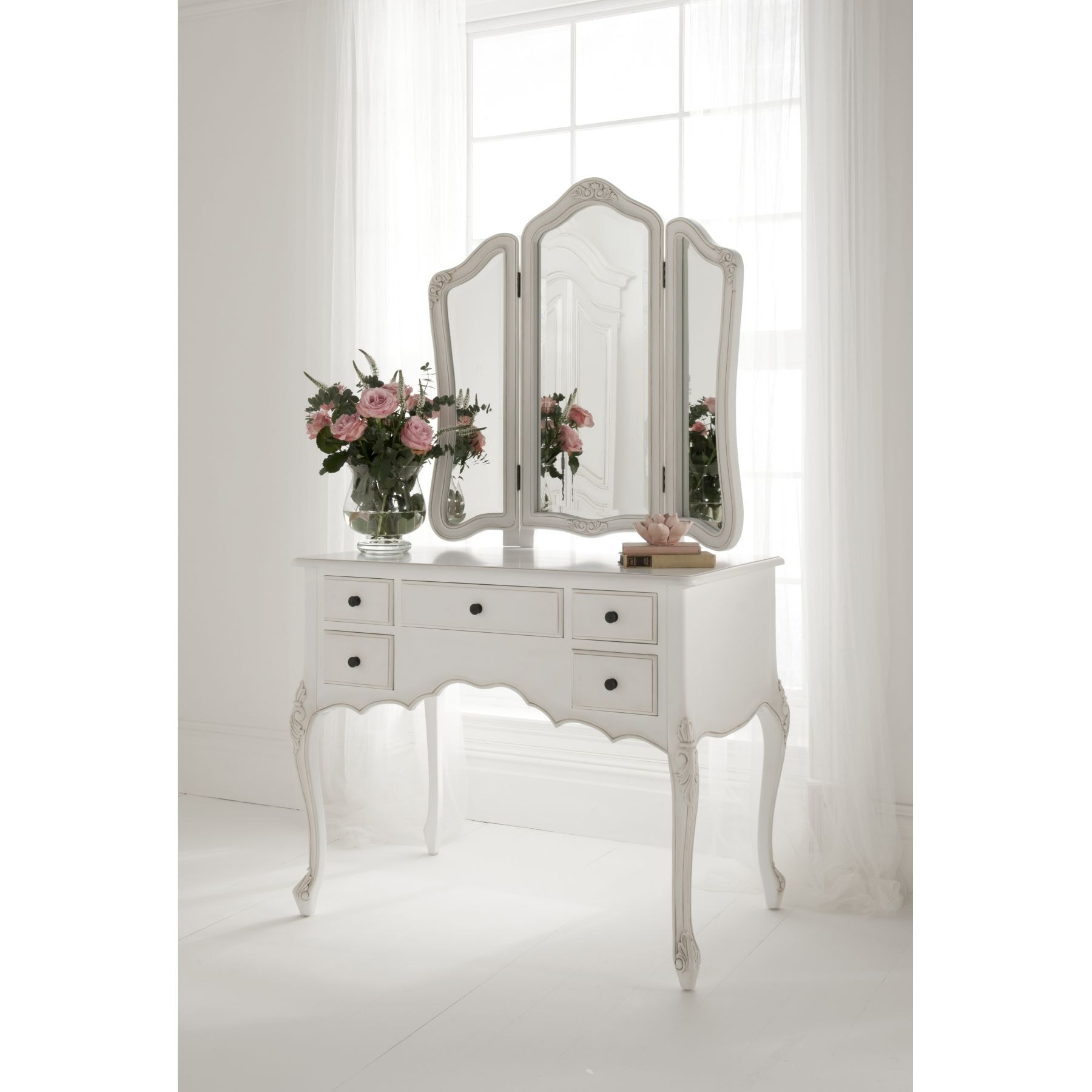 Paris Antique French Dressing Table Set | French Style Dressing Tables
