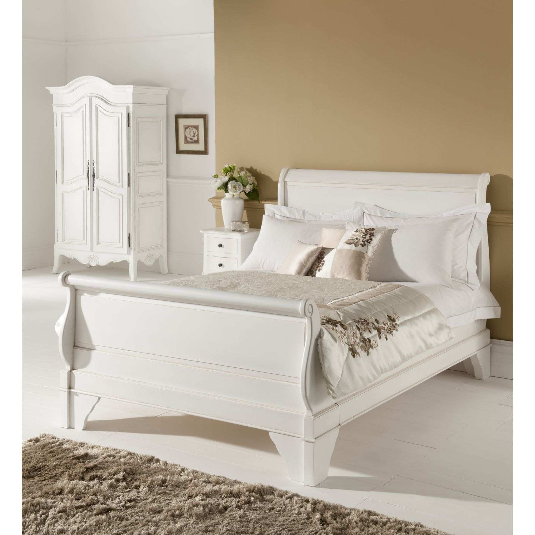 Paris Antique French Sleigh Bed Size Single
