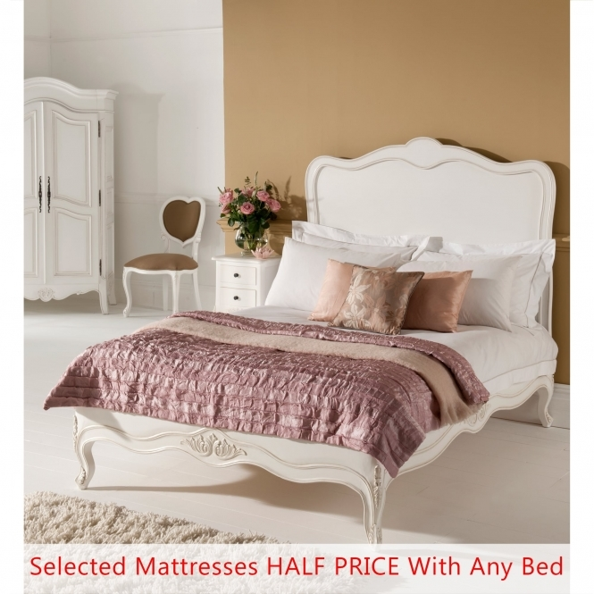 Paris Antique French Style Bed - Double Mattress Bundle Deal