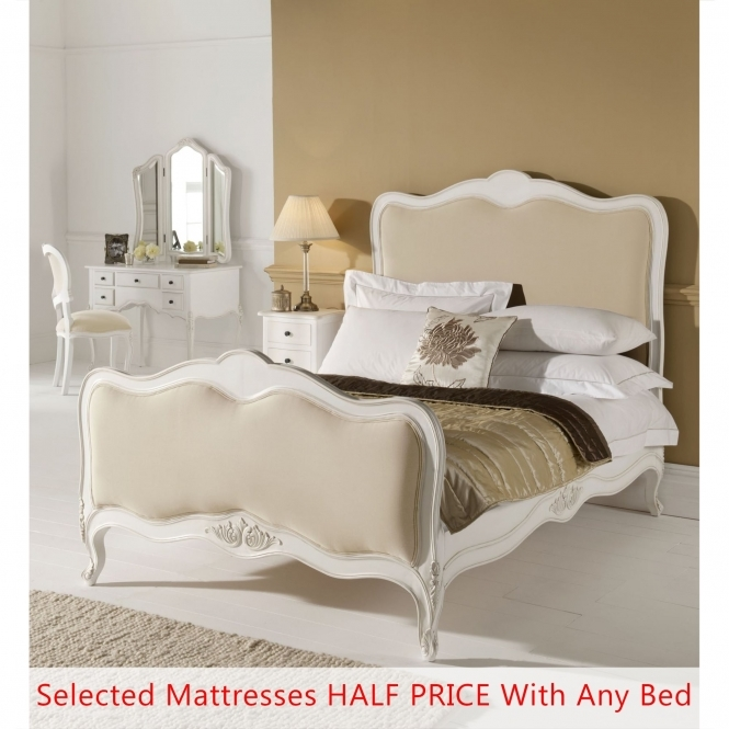 Paris Antique French Style Bed - Single Half Price Mattress Bundle