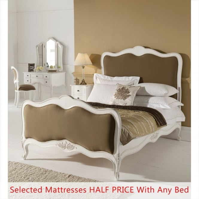 Paris Antique French Style Bed (Size: Single) + Mattress - Bundle Deal